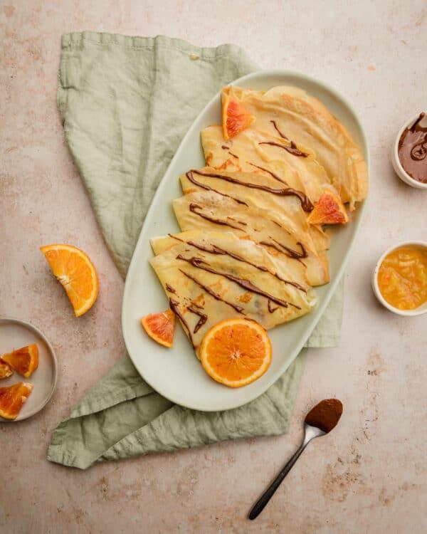 Preset crêpes orange - Photo culinaire - Les recettes de Mélanie