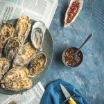 Je vous propose 3 recettes à base de fruits exotiques pour accompagner vos plateaux de fruits de mer (huitres, gambas, homard...)