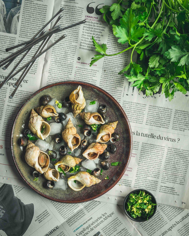 Une gremolata exotique avec du gingembre pour accompagner des fruits de mer.
