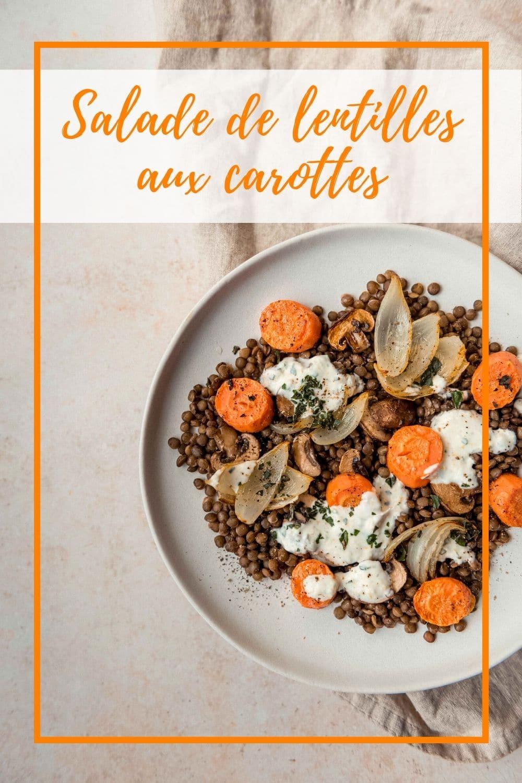Salade de lentilles aux carottes
