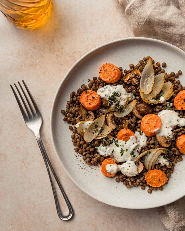 Salade de lentilles aux carottes: une salade colorée, légère, complète mais surtout pas ennuyante.