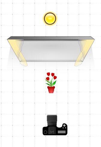 Schéma de lumière pour une photo culinaire en contre-jour