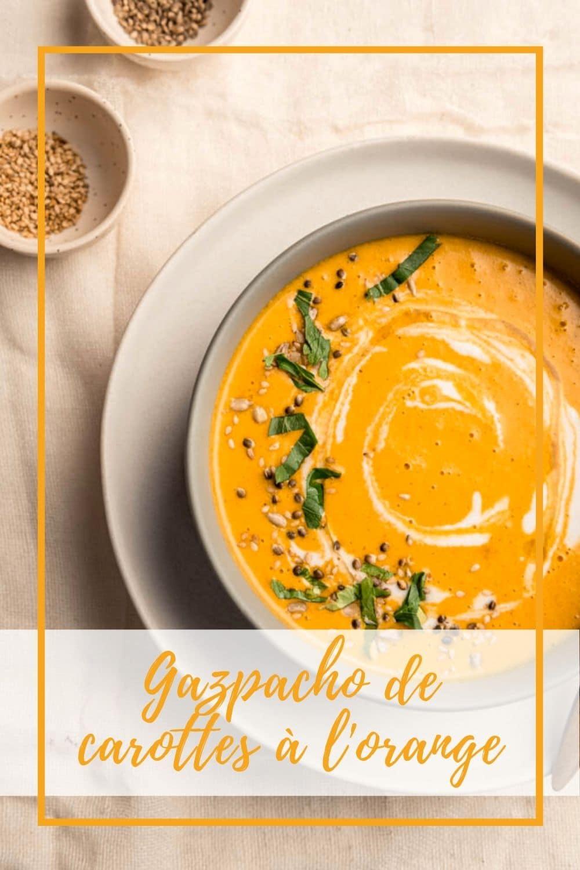 Gazpacho de carottes à l'orange et curry