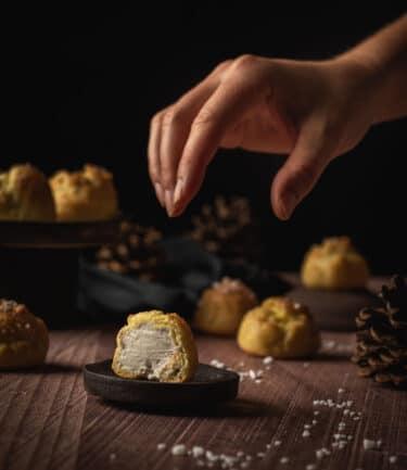 Une recette ultra gourmande de choux fourrées à la crème - Inspirée des dunes blanches d'Arcachon