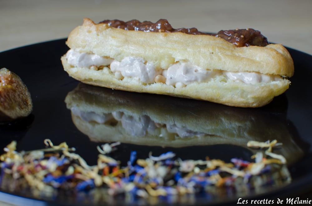 eclair au foie gras et à la figue