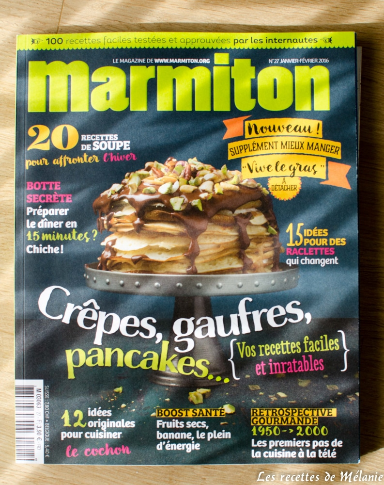 1 livre de cuisine 3 recettes marmiton magazine. Black Bedroom Furniture Sets. Home Design Ideas